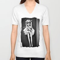 barbie V-neck T-shirts featuring Bondage Barbie by MistyAnn @ What the F-stop Prints