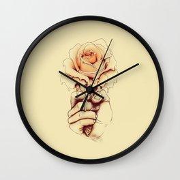 Rose a la Mode Wall Clock
