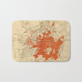 Map Of Aleppo 1929 Bath Mat