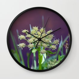 Lake Irene Alpine Floral Study 4 Wall Clock