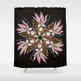 Flemish Floral Mandala Shower Curtain
