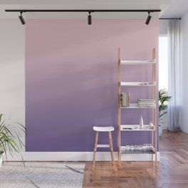 Gradient Millennial Pink Ultra Violet Pattern | Trendy color of the year 2018 Wall Mural