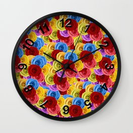 A Whole Bunch of Roses Wall Clock