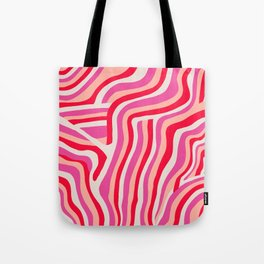 pink zebra stripes Tote Bag