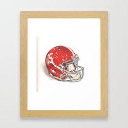 Alabama Football Helmet Framed Art Print