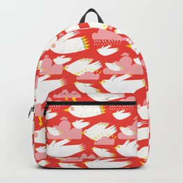 Birs and clouds Backpack