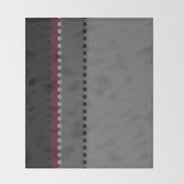 Modern Burgundy Grey Black Stripe Dot Pattern Throw Blanket