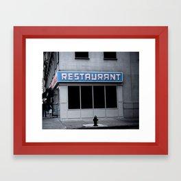 The [Seinfeld] Diner Framed Art Print