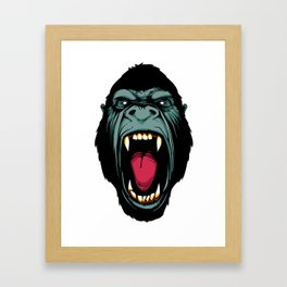 Gorilla Face Framed Art Print