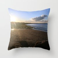 cape cod Throw Pillows featuring Cape Cod  by Plush Deesigns