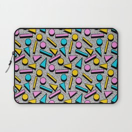 Dig It - memphis throwback retro neon cool rad pattern dorm college hipster neon squiggle abstract Laptop Sleeve