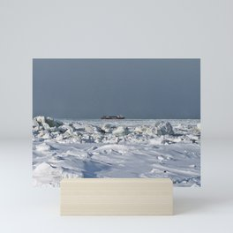 Freighter in the Ice Mini Art Print
