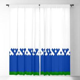 flag of nenets Blackout Curtain