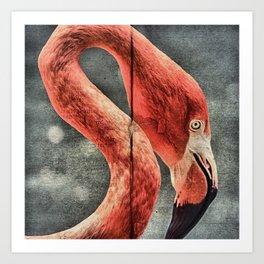 Flamingo in Literature Art Print