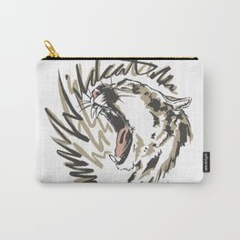 Wildcat Roar - Mountain Lion - Taupe Gray Carry-All Pouch