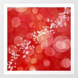 Love dreams. Bokeh texture Art Print