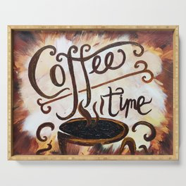 Coffee Time Serving Tray