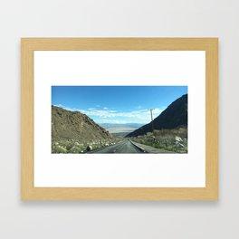 Mountain Road in Palm Springs California Framed Art Print