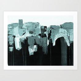 Abstract painting, minimalist Art Print