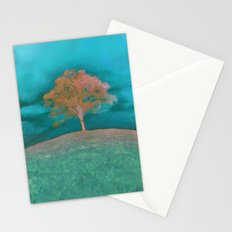 ABSTRACT - solitary tree Stationery Cards