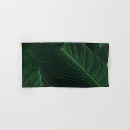 Banana palm greens tropical forest Hand & Bath Towel