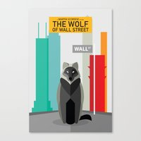 wolf of wall street Canvas Prints featuring The Wolf of Wall Street by Danish Ahmed