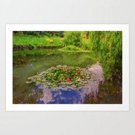The Water Lily Pond inspired by impressionist  Art Print