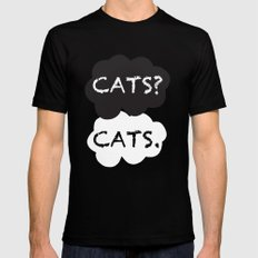 Cats Mens Fitted Tee Black MEDIUM
