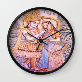 Hare Krishna Love Wall Clock