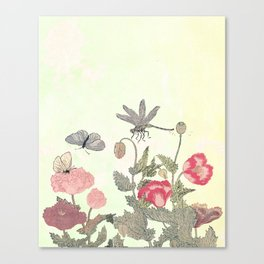 Butterfly and flowers -The Still Point Canvas Print