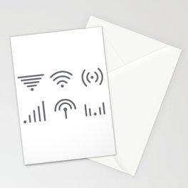 Wifi Signal Stationery Cards