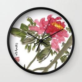 Peony One Wall Clock