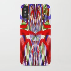Color and lines in space iPhone X Slim Case