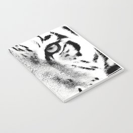 White Tiger Print Notebook