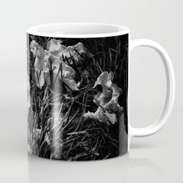 Backyard Flowers In Black And White 23 Coffee Mug