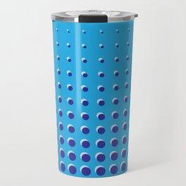 Blue on blue grid - Optical game 14 Travel Mug