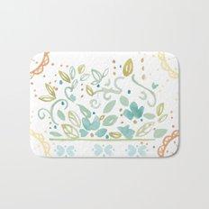 Boho floral Bath Mat
