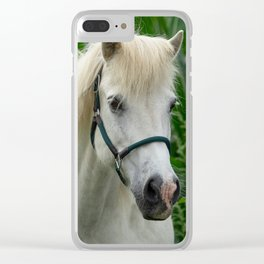 Horse and Sunflowers Clear iPhone Case