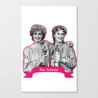 jessica lange Canvas Prints featuring Jessica Lange and Meryl Streep by BeeJL