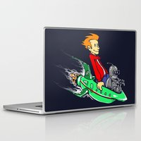 bender Laptop & iPad Skins featuring Bender and Fry by Punksthetic