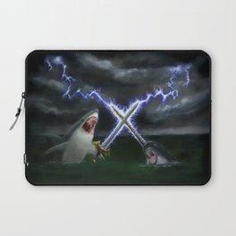 Shark vs. Narwhal  Laptop Sleeve