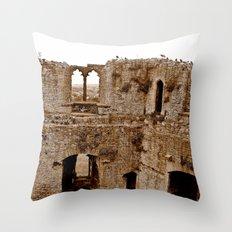 Castle Walls Throw Pillow