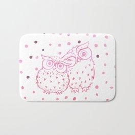 Owls - Pink Bath Mat