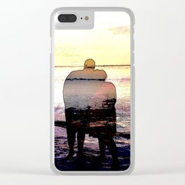 Love in the Sunset Clear iPhone Case