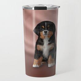 Drawing puppy Bernese Mountain Dog Travel Mug