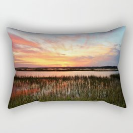 Sunset And Reflections Rectangular Pillow