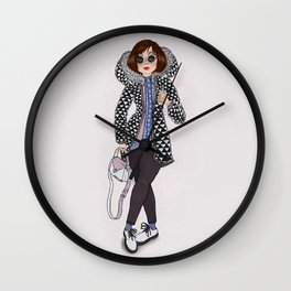 Cold February Wall Clock