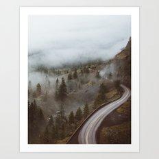 Foggy Rowena Crest Art Print