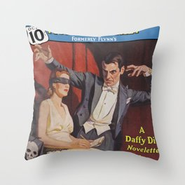 Detective Fiction Weekly - October 2nd 1937 Throw Pillow