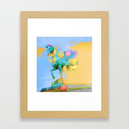 The Fly of Angelic Flowers - Digital Mixed Fine Art Framed Art Print